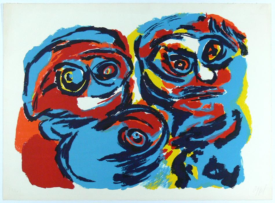 KAREL APPEL - Farblithographie, handsigniert, Auflage 200, 56 x 76 ...