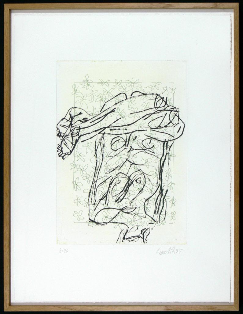 GEORG BASELITZ: Farbradierung, handsigniert, Auflage 20, 1995 - mit ...