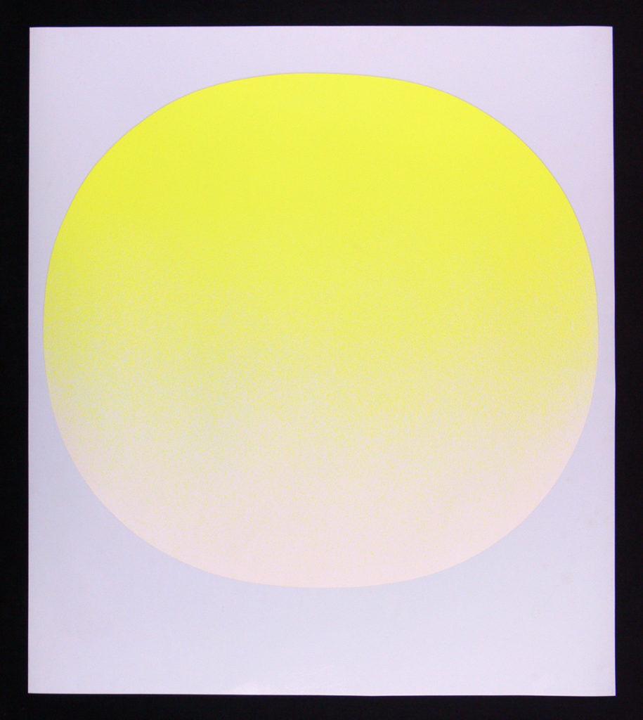 Gelber Kreis auf Grau   Janisch Fine Art
